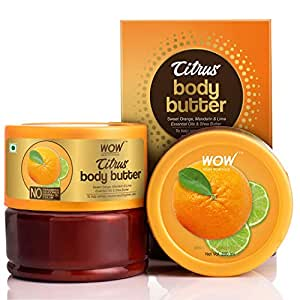 WOW Skin Science Citrus Butter for Refreshing, Nourishing & Brightening Skin - For All Skin Types - No Parabens, Silicones, Mineral Oil & Color - 200mL