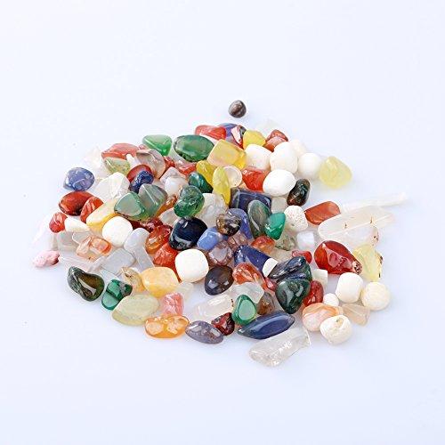1Tasche 100g bunt gemischt Unregelmäßige Form Trommelstein Stones Rock Gem Perlen Chips amesii