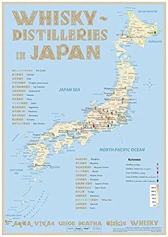 Whisky Distilleries Japan - Tasting Map 24x34cm: The Whisky Landscape