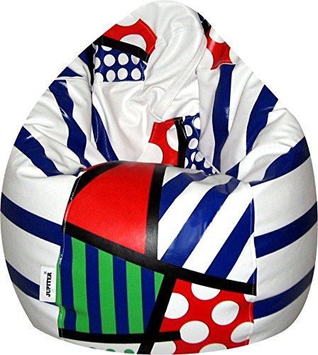 Jupiter Leatherette XXXL Bean Bag Cover  Without Filling  Multicolor