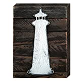 designocracy Lighthouse Vintage Nautischen Wand Art Decor auf Holzbrett