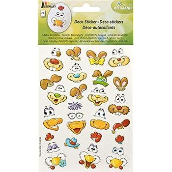 SET 5 Farben // 13 - tlg. Eierfarbe FRECHE EIERK/ÖPFE mit Eierbechern und Aufklebern Ostern KOMPLETT