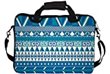 "Snoogg Aztec Pattern Triangular 14"" 14.5"" 14.6"" inch Laptop Notebook SlipCase With Shoulder Strap Handle Sleeve Soft Case With Shoulder Strap Handle Carrying Case With Shoulder Strap Handle for Macbook Pro Acer Asus Dell Hp Sony Toshiba"