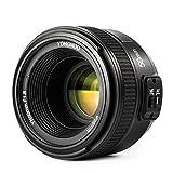 YONGNUO YN 50mm F1.8 Objektiv AF(Blende F / 1.8) für Nikon AI DSLR-Kamera, Autofokus mit TARION Tasche