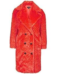 Topshop Faux Fur Fluffy Longline Coat
