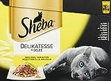 Sheba Katzenfutter Nassfutter Multipack Gelee Geflügel, 48 Beutel (4 x 12 x 85 g)