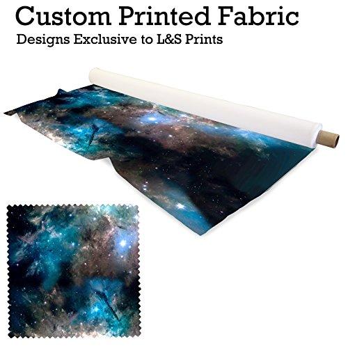 Space Galaxy Design 7Digital Print Strick Jersey bedruckter Stoff 149,9cm Breite hergestellt in Yorkshire (Lego Drucken Stoff)