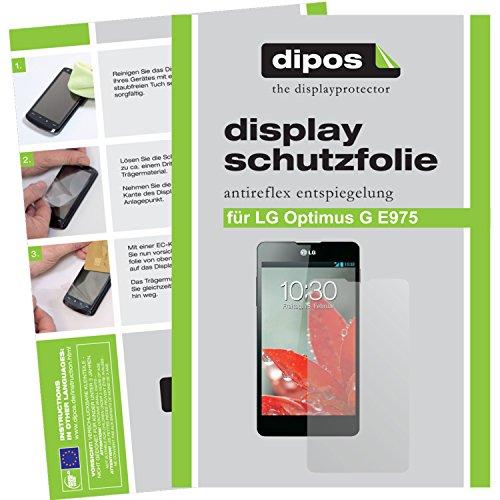 2x dipos Displayschutzfolie LG Optimus G E975 Schutzfolie matt Antireflex (Lg G E975)
