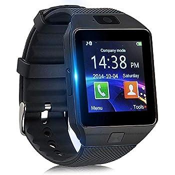 Smartwatch con Podómetro, Reloj Inteligente Android con Cámara TF/Ranura de Tarjeta SIM Notificación de Mensaje, Reloj de Fitness con Cronómetros ...