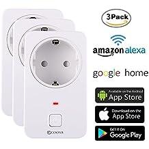 [3 Pack] Smart Steckdose COOSA intelligente WLAN Steckdose smart Wifi Steckdose WLAN Smart Steckdose funktioniert auch mit Amazon Alexa [Echo, Echo Dot] und Google Home, mit App Steuerung überall und zu jeder Zeit