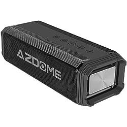 Enceinte Haut Parleur Bluetooth 4.2 AZDOME 20W Enceinte Speaker sans Fil Puissante Portable IPX7 Etanche AUX Stéréo Basse Améliorée Mains Libres Appel TF Carte