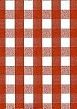 KEVKUS Wachstuch Tischdecke Rollenware 20 Meter Rolle x 140 cm Breite kariert rot 63-5