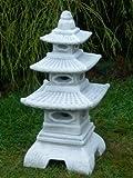 Steinlaterne in japanischer Figur aus Steinguss Gartendeko, witterungsbeständig
