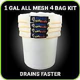 bubblebagdude alle Mesh 1Liter 4Bag Herbal Hash Ice Extractor Kit–geht mit Drücken Bildschirm und Aufbewahrungstasche