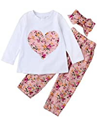 Ropa Bebe Niña Invierno Otoño de 0 a 24 meses SMARTLADY Bebé Niñas Camisetas de manga
