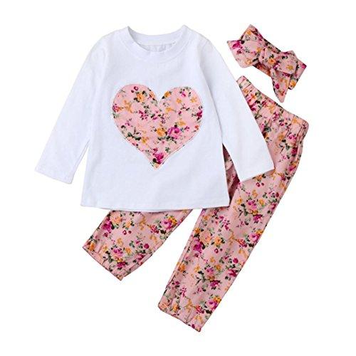 Ropa Bebe Niña Invierno Otoño de 0 a 24 meses SMARTLADY Bebé Niñas  Camisetas de manga d4aa2d2951b4