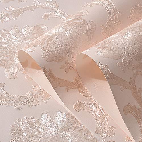 Européen 3D en trois dimensions fines rayures verticales en relief non tissé papier peint salon chambre à coucher TV fond mur papier peint auto-adhésif papier peint - 0.53m * 1m