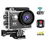 SENDOW Action-Kameras 4K WiFi Wasserdichte Sport-Kamera 30M Tauchen mit 170 Grad Weitwinkel,...