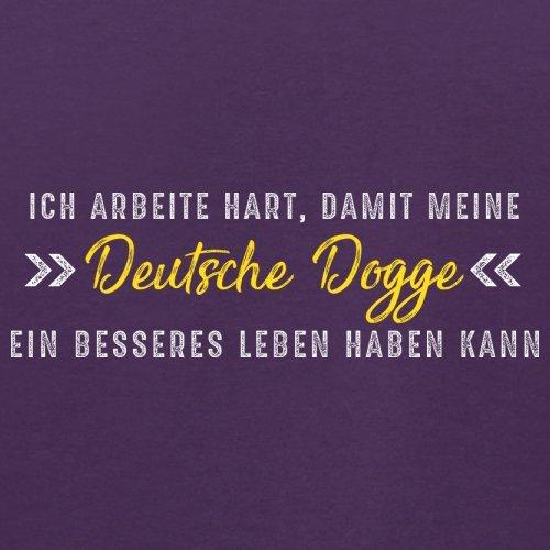 Ich arbeite hart, damit meine Deutsche Dogge ein besseres Leben haben kann - Herren T-Shirt - 12 Farben Lila