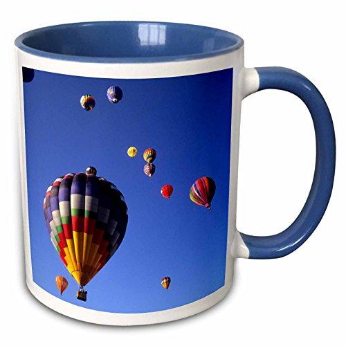 3dRose Hot Air Luftballons, Albuquerque, New mexico-us32bba0010-bill Bachmann-Two Ton Blau Becher, Keramik, Blau/Weiß, 10,16x 7,62x 9,52cm