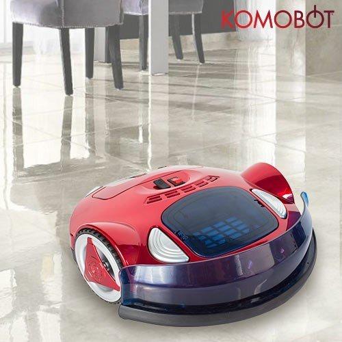 Omnidomo-KomoBot-Robot Aspirador Inteligente, 25 W, Batería de Alta Capacidad, Depósito de 140 ml, Autonomía 30 min