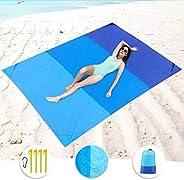Jinara Beach Blanket, 79''×83'' Moisture-proof Mat Waterproof Sand Proof Mat for 3-7 Adults, L