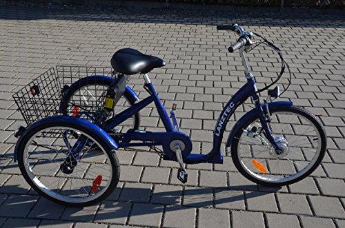 elektro dreirad erwachsene Elektro Dreirad Lanztec Elektro Therapie-Dreirad 7 Gang Shimano Nabenschaltung mit Rücktrittbremse blau