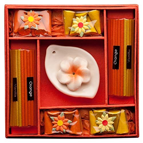 Blaze On® Blumen Räucherstäbchen- und Kerzen-Geschenkset