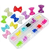 BTArtbox 60 Acrylic Butterfly Bow Tie Nail Art Decoration