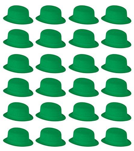 Beistle 3399924er Pack Velours Derbies Party Hat, grün