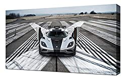 Lilarama 2014-Koenigsegg-Agera-One-1-V6-1080 - Art Leinwandbild - Kunstdrucke - Gemälde Wandbilder