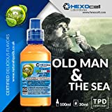 E JUICE - 30ml E Liquide Shake and Vape - Old Man & The Sea (Tabac à pipe de force moyenne) - Shake n Vape Eliquide Sans Nicotine