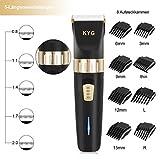 KYG Haarschneidemaschine elektrischer Haarschneider bart trimmer herren Präzisionshaartrimmer mit 8 Aufsatzkämmen für Salon oder zu Hause Schwarz MEHRWEG - 2