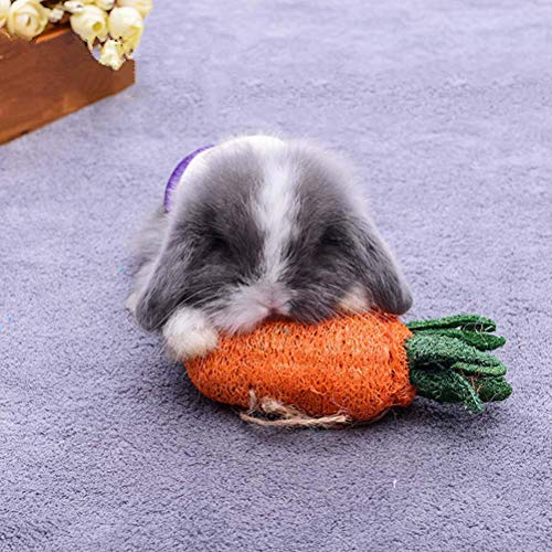 KOBWA Kaninchen kauen Spielzeug Karotten kauen Hamster Kaninchen Zähne Cleanning Spielen Spielzeug Zähne Cleanning KarottenZ ähne Gesunde Pflege -