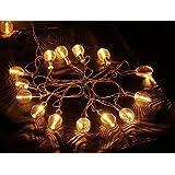 New Metal Spring 16 LED String Decoration Light For Wedding Garden Diwali Christmas Festival Home Decoration
