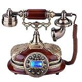 VBESTLIFE Retro Vintage Telefon,Wählscheibe Antik Festnetz Telefon,geeignet für Hause,Büro, Luxus Haus, Sterne Hotel, Kunstgalerie, Schmuckgeschäft usw.