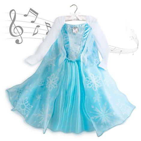(Frozen Elsa Singen Kostüm Kleid für Kinder Größe 11 - 12 Jahr)