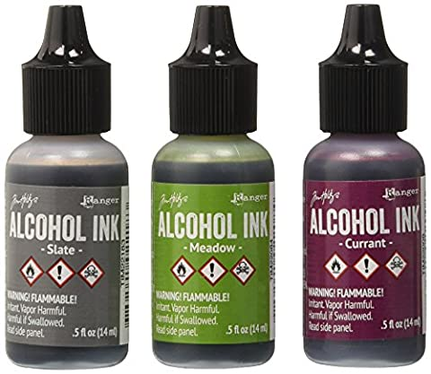 Ranger Adirondack Alcohol Ink .5 Ounce 3/Pkg Cottage Path Slate/Currant/Meadow AAI-20714