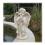 Gartenfigur 34 cm Hoch Engel 16728A Gartendeko Engelsfigur Grabdeko Figur Engels