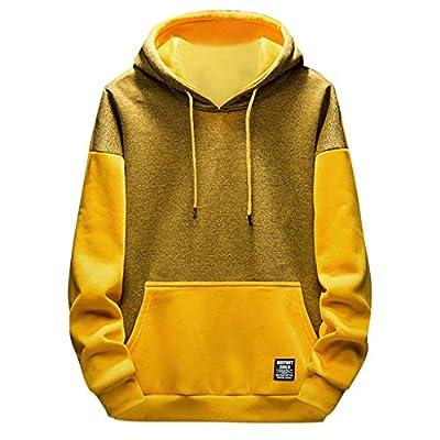 UJUNAOR Herren Frühling Dünnen Sweatshirt Mode Langärmelige Pullover mit Kapuze