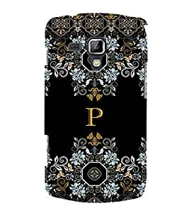 Fabcase floral pattern cloth design alphabet P Designer Back Case Cover for Samsung Galaxy S Duos 2 S7582 :: Samsung Galaxy Trend Plus S7580