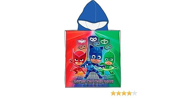 Poncho Mare Piscina Accappatoio Originale PJ Masks 100/% Cotone Bambino Bambina