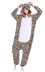 Idea Regalo - ABYED® Kigurumi Pigiama Anime Cosplay Halloween Costume Attrezzatura,Orso Leopard Taille adulte M -pour Hauteur 159-166CM