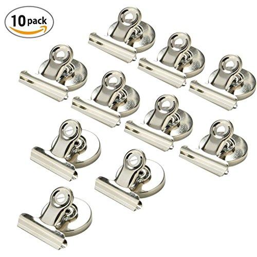 Magnetclips Haken Kühlschrank - 10 Stück Super Stark Klammer Halter Kühlschrank Metall Magnet Klammer Kühlschrank Magnetisch Clips für Haus Büro Schule (Silber) (Magnetische Kalender-halter)