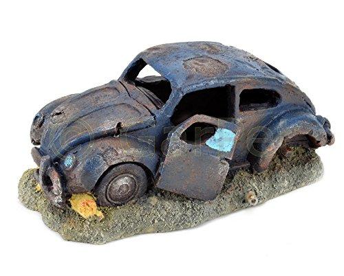Aquarium Deko Autowrack Auto Wagen Käfer Beetle Wrack Aquarien Dekoration