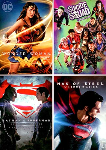 DC Comic 4-pack (Wonder Woman / Suicide Squad / Batman v Superman: Dawn of Justice / Man of Steel)