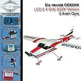 Cessna 182 skylane 3G3X R/C avion zinc (téléguidé) brushless LiPo (rouge) FZ2-FBA