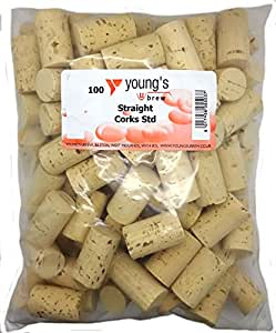 100 NEW PLAIN STRAIGHT CORKS FOR WINE HOME WINEMAKING