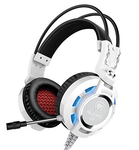 Auriculares, Nubwo K6 sobre el oído estéreo del juego de auriculares con...
