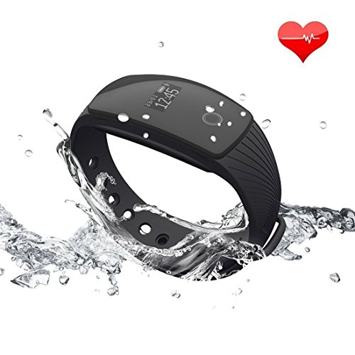 【Versione Aggiornata】RIVERSONG ® Bracciale Fitness, Resistente all'acqua Braccialetto Orologio Fitness